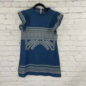 ChicWish Navy Embroidered Midi Dress